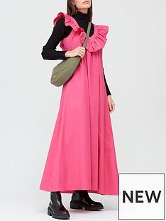 paper-london-vnbspneck-frill-maxi-dress-pink