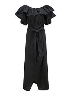 paper-london-gaga-bandeau-wrap-style-dressnbsp--black