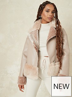 missguided-missguided-pu-fauxnbspfur-mix-aviator-brown