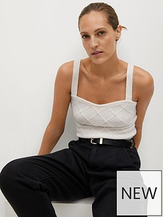 mango-knittednbsppearl-embellished-top