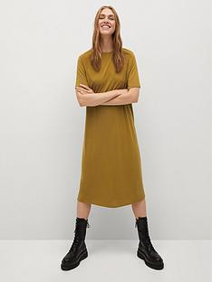 mango-jersey-midi-dress-yellow
