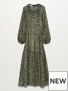 mango-swing-zebra-midi-dress-khaki