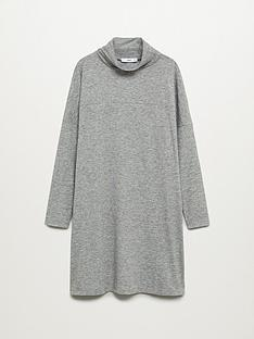 mango-basic-jersey-roll-neck-dress-grey