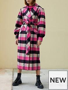 paper-london-clothdilde-check-coat-pink