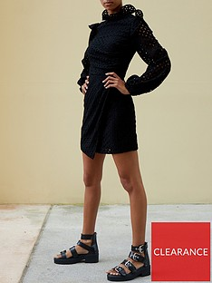 paper-london-spice-mini-dress-black