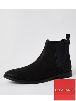 river-island-distressed-leathernbspchelsea-boot-black