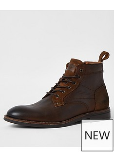 river-island-brown-dark-casual-lace-up-bootchoc