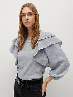 mango-ruffle-sleeve-blouse