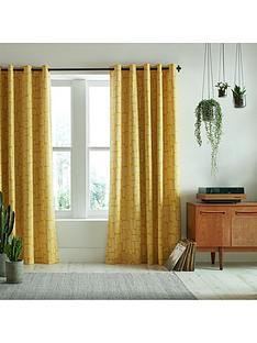 missprint-little-trees-yellow-eyelet-curtains