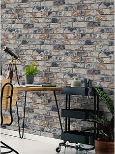 fresco-distressed-brick-navy-and-red-wallpaper