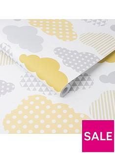 superfresco-easy-clouds-yellow-grey-wallpaper