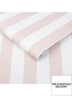 superfresco-easy-pastel-pink-stripe-wallpaper