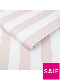 superfresco-easy-pastel-pink-stripe-wallpaper