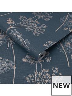 superfresco-easy-wild-flower-navy-wallpaper