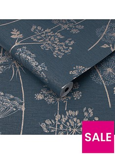 superfresco-easy-wild-flower-navy-wallpaper