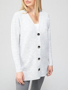 v-by-very-longline-v-neck-button-up-knitted-cardigan-grey-marl