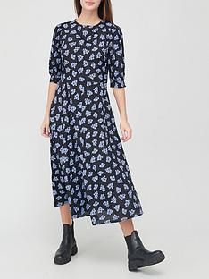 v-by-very-shortnbspsleeve-crepe-midi-dress-floralnbsp