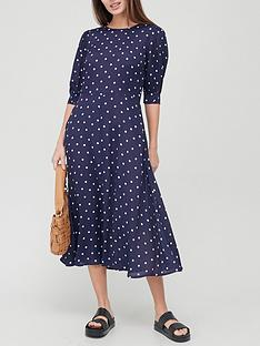 v-by-very-half-sleeve-crepe-midi-dress-spotnbsp