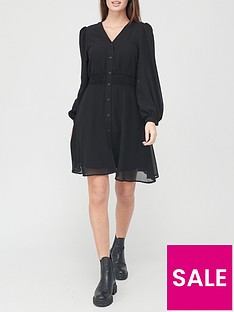 v-by-very-button-down-skater-dress-black