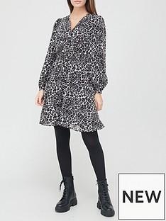 v-by-very-button-downnbspskater-dress--nbspanimal-print