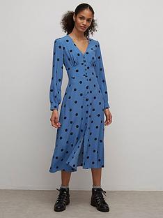 nobodys-child-siri-midi-dress-blue
