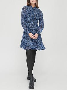 v-by-very-georgette-shirt-dress-blue-printnbsp