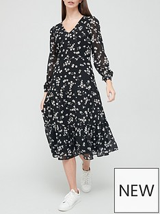 v-by-very-floral-georgette-midi-dress-black-floral-print