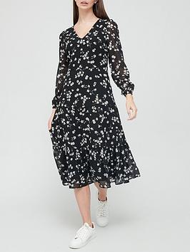 v-by-very-floral-georgette-midi-dress-black-floral-print