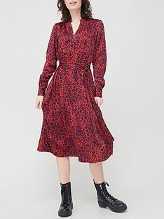 v-by-very-satin-yuryu-notch-neck-midi-dress-print