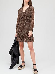 v-by-very-v-neck-button-through-mini-dress-brown