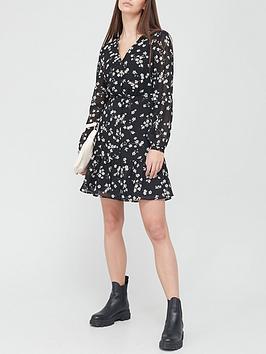 v-by-very-v-neck-button-through-mini-dress-black