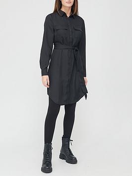 v-by-very-cupro-mini-shirt-dress-black