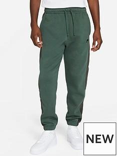 nike-plus-size-colorblock-joggers-greenblack