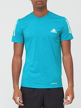 adidas-aeroready-3-stripe-t-shirt-cyan