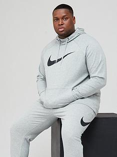 nike-training-plus-size-dry-overhead-swoosh-hoodie-dark-grey