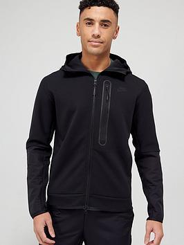 nike-tech-fleecenylon-mix-full-zip-hoodie-black