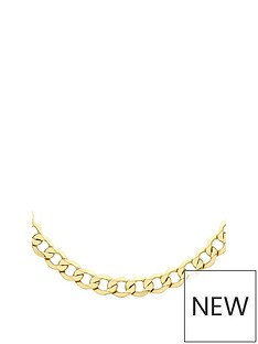 the-love-silver-collection-gold-plated-sterling-silver-curb-chain