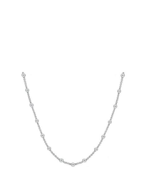 the-love-silver-collection-sterling-silver-ball-necklace