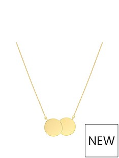 love-gold-9ct-yellow-gold-double-disc-adjustable-necklace