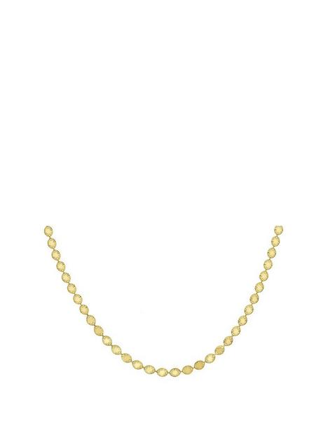 the-love-silver-collection-gold-plated-sterling-silver-disc-chain-necklace