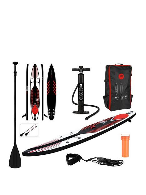 pure-racing-sup-inflatable-stand-up-paddle-board-125-feet-complete-set-with-pump-patch-tool-foot-lead-adjustable-paddle-and-waterproof-2l-bag