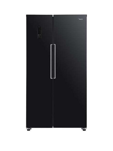 swan-sr15641b-total-no-frost-90cm-widenbspamerican-style-fridge-freezer-black