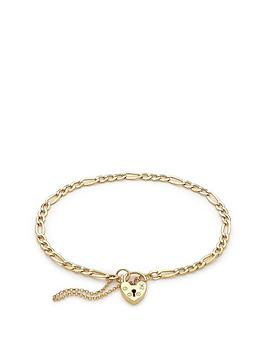 love-gold-9ct-yellow-gold-figaro-padlock-and-safety-chain-bracelet