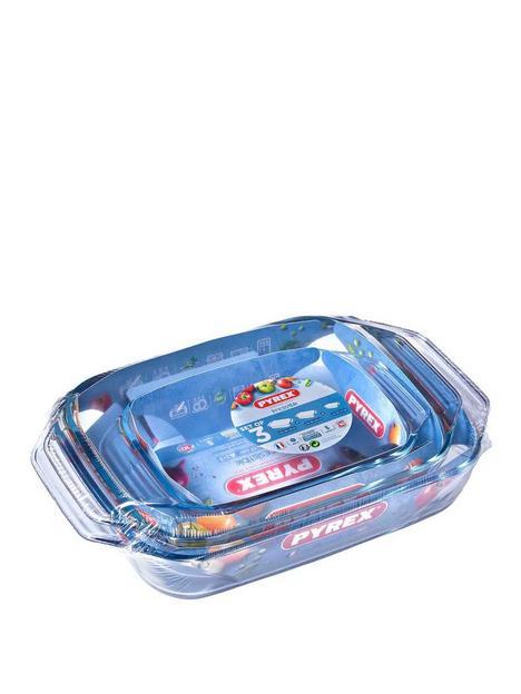 pyrex-3-piece-irresistable-rectangular-roaster-set