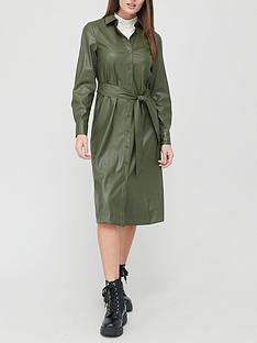 v-by-very-pu-midi-shirt-dress-olive