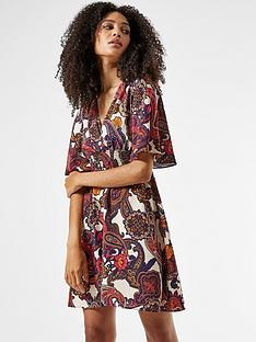 dorothy-perkins-shirrednbspwaist-paisley-printnbspmini-dress-multinbsp
