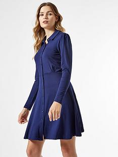 dorothy-perkins-jersey-shirt-dress-navynbsp