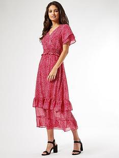 dorothy-perkins-ava-leopard-ruffle-midi-dress-pink