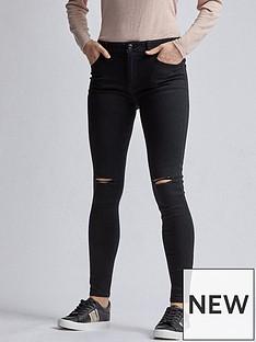 dorothy-perkins-regular-length-rip-alex-jeans--nbspblacknbsp