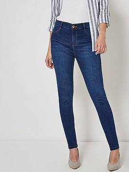 dorothy-perkins-short-length-frankie-jeans--nbspblue